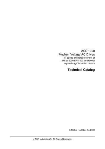ABB ACS1000 技术样本