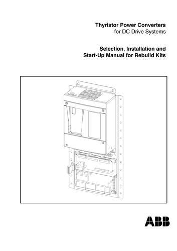 ABB DCR600 选型安装及操作手册