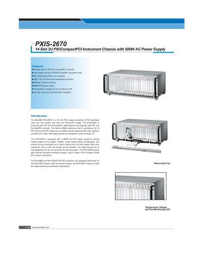 凌华科技14 槽3U PXI 机箱PXIS-2670