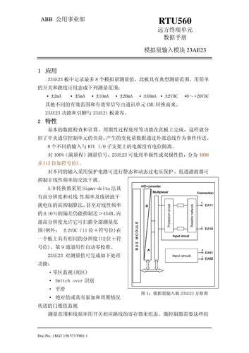 ABB RTU560 模拟量输入模块 23AE23