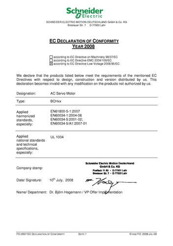 施耐德电气Lexium 23CE认证