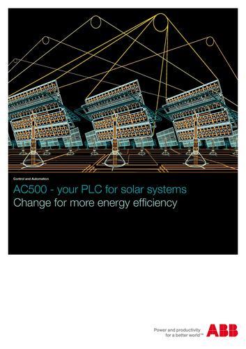 ABB PLC在太阳能光伏发电厂中的应用
