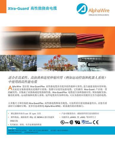 AlphaWire Xtra-Guard 高性能柔性电缆
