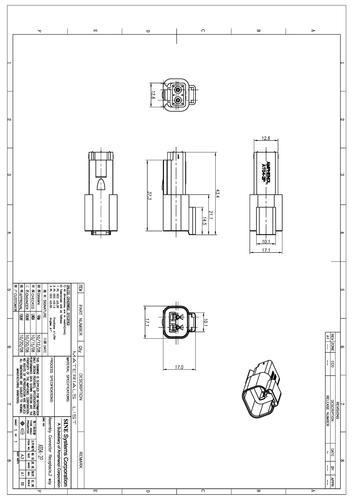 安费诺 AT04-2P矩形连接器