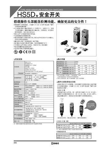 IDEC(和泉)HS5D系列安全开关选型手册