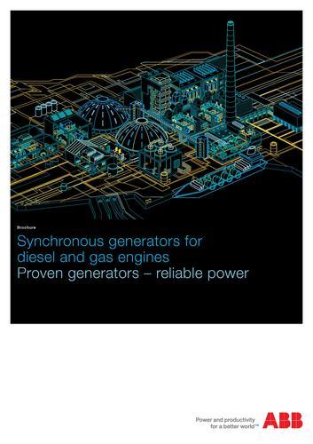 ABB高压和低压发电机 柴油和天然气同步发电机(英文介绍)