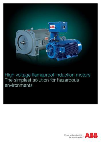 ABB高压电机 高压隔爆感应电机(英文介绍)