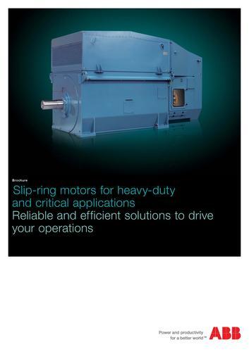ABB高压电机 滑环电动机(英文介绍)