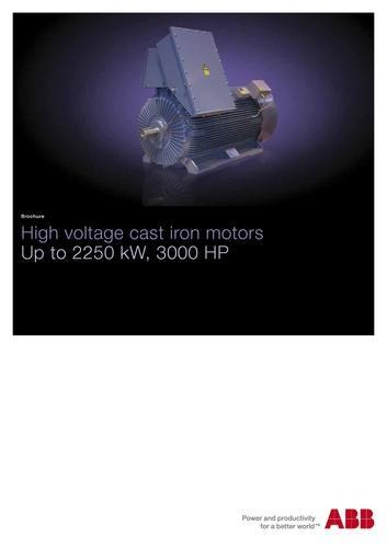 ABB高压电动机 高压铸铁电动机(英文介绍)