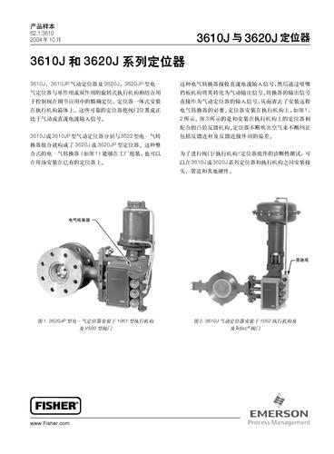 费希尔3610J 和3620J 系列定位器产品样本
