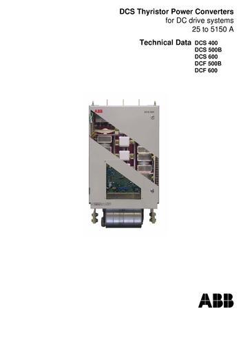 ABB DCS500B 技术数据