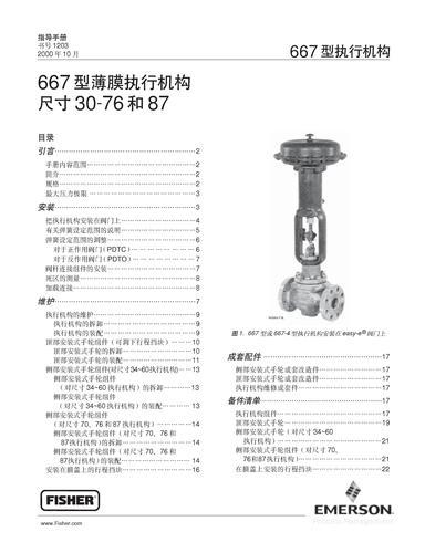 FISHER 667型薄膜执行机构操作手册