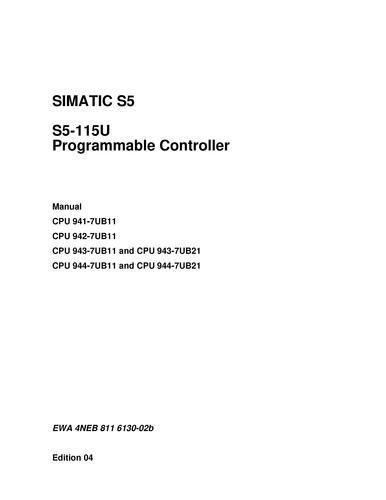 SIMATIC S5-135U/155U英文版系统手册_图片_参数_样本下载_资料 on