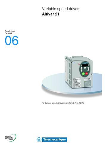 施耐德 ATV21变频器产品目录(英文)