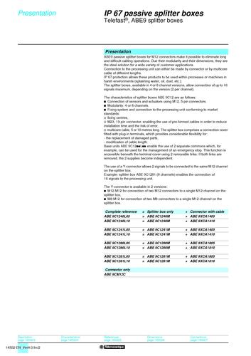 施耐德电气 Advantys ABE9 catalog(EN)